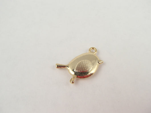 BD161 Bird 14k Gold Plated Charm