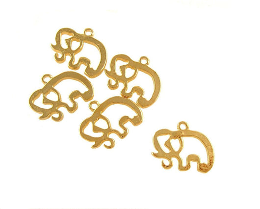 BD165 Elephant 14k Gold Plated Charm