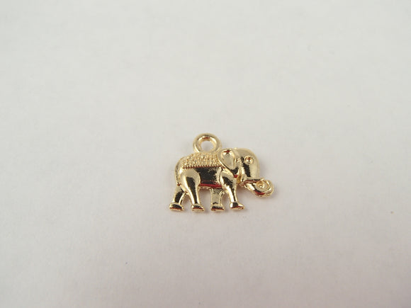 BD173 Elephant 14k Gold Plated Charm