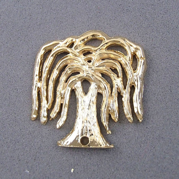 BD181 Willow 14k Gold Plated Charm