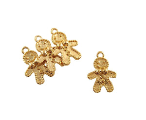 BD190 Gingerbread M 14k Gold Plated Charm