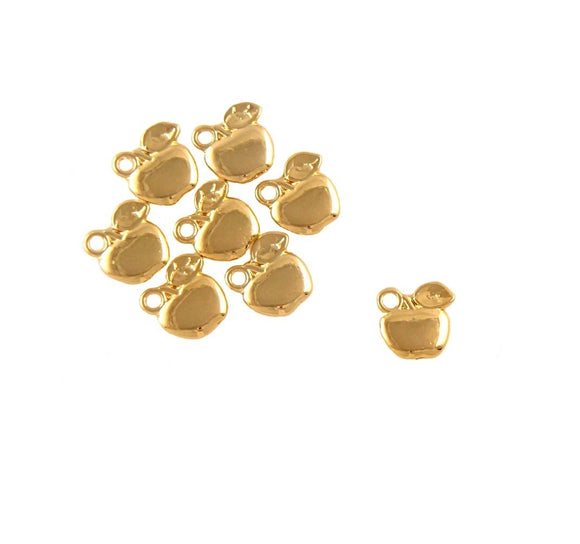 BD191 Apple 14k Gold Plated Charm