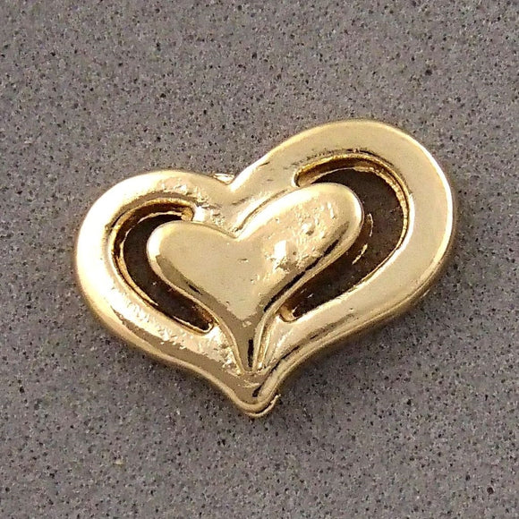 BD195 Heart 14k Gold Plated Charm