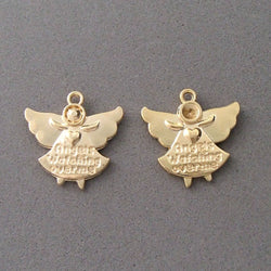 BD196 Angel 14k Gold Plated Charm