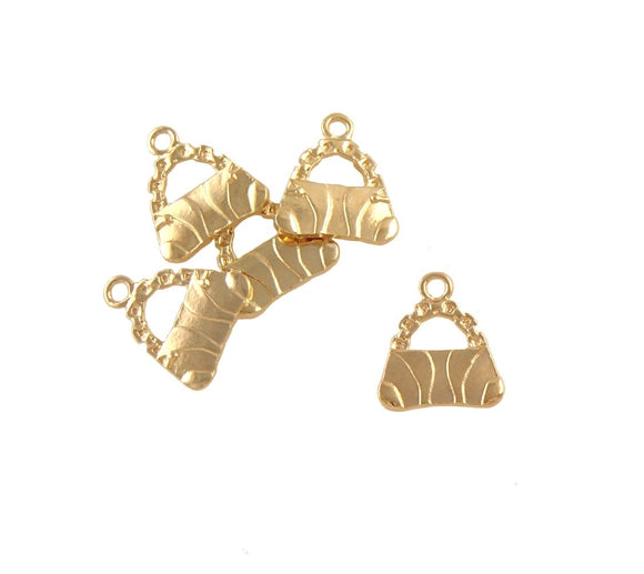 BD199 Handbag 14k Gold Plated Charm