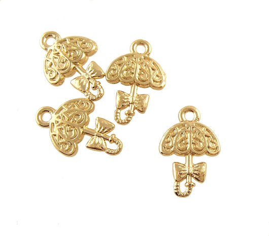 BD202 Umbrella 14k Gold Plated Charm