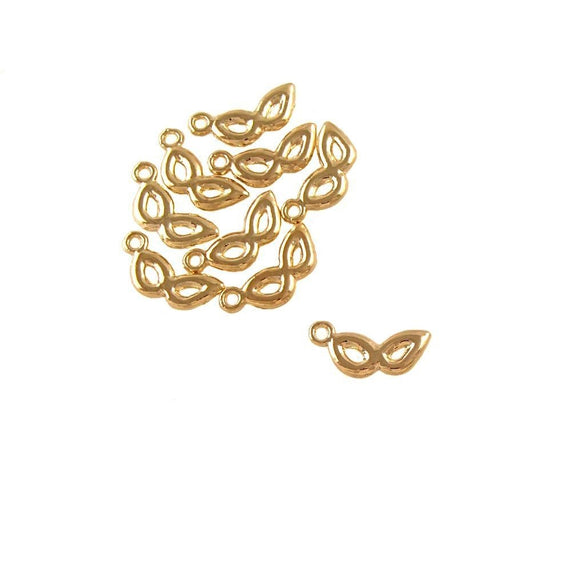 BD207 Mask 14k Gold Plated Charm