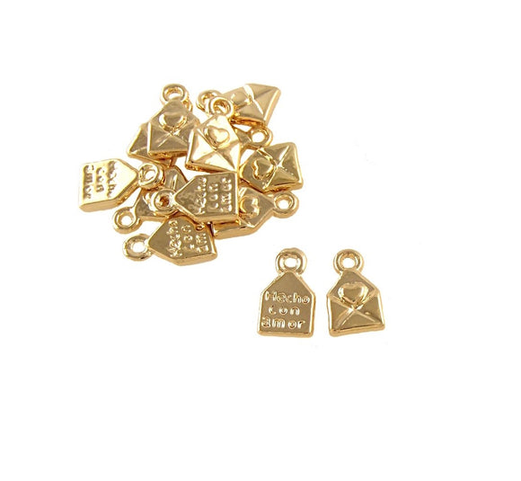 BD208 Envelope 14k Gold Plated Charm