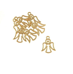 BD209 Angel 14k Gold Plated Charm