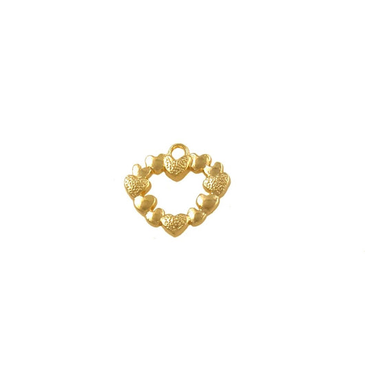 BD210 Heart 14k Gold Plated Charm
