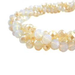 Glass Rondelle Beads D072 Opal Sand Multicolored