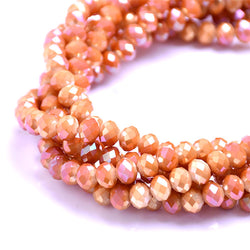 Glass Rondelle Beads AB D064 Chedron