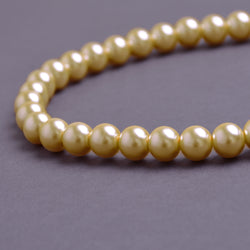 Glass Pearl Beads C12 Vintage Gold
