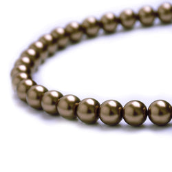 Glass Pearl Beads C13 Light Brown