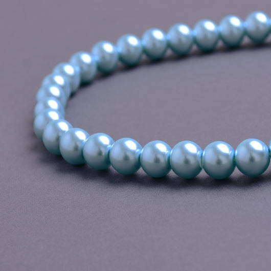 Glass Pearl Beads C15 Teal