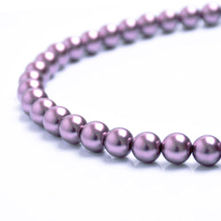 Glass Pearl Beads C19 Lilac