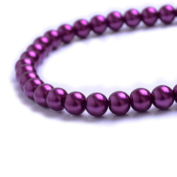 Glass Pearl Beads C20 Purple