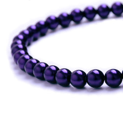 Glass Pearl Beads C21 Purple
