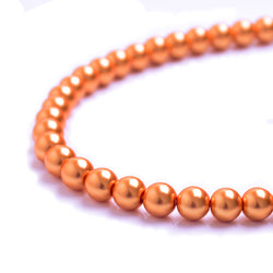 Glass Pearl Beads C22 Orange