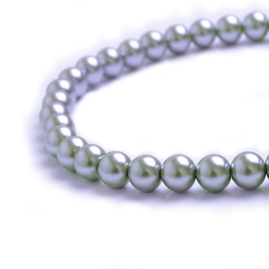Glass Pearl Beads C28 Gray