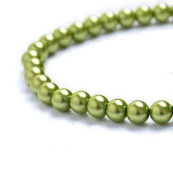 Glass Pearl Beads C29 Green