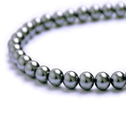 Glass Pearl Beads C31 Gray