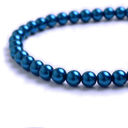 Glass Pearl Beads C32 Royal Blue