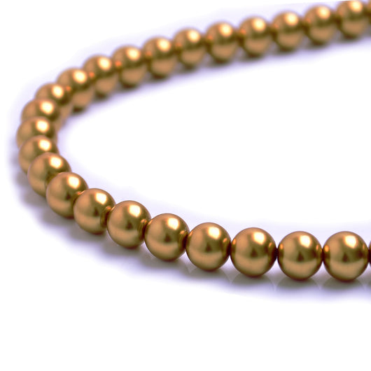 Glass Pearl Beads C34 Gold