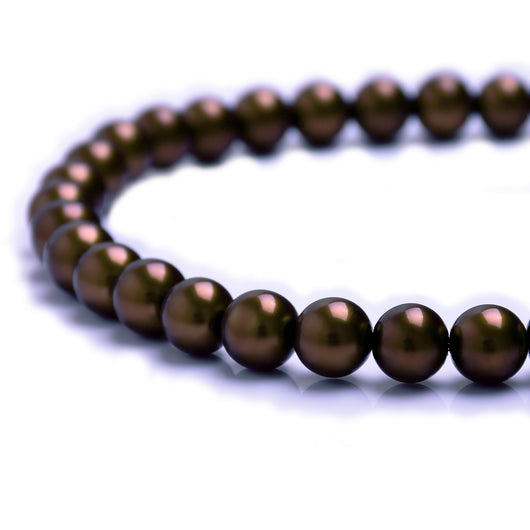 Glass Pearl Beads C35 Dark Brown