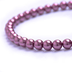 Glass Pearl Beads C36 Wine