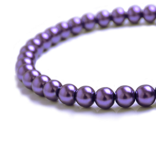 Glass Pearl Beads C37 Violet