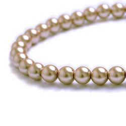 Glass Pearl Beads C39 Light Brown