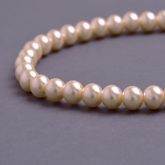 Glass Pearl Beads C40 Peach