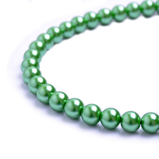 Glass Pearl Beads C42 Dark Green
