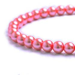 Glass Pearl Beads C44 Pink