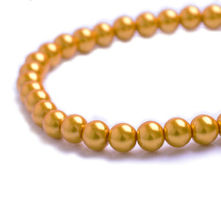 Glass Pearl Beads C45 Honey Yellow