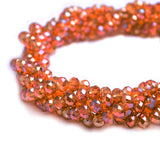 Glass Rondelle Beads AB B041 Salmon