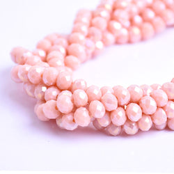 Glass Rondelle Beads AB D132 Melon