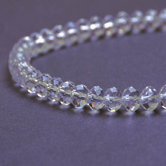 Glass Rondelle Beads C001 Clear