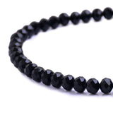 Glass Rondelle Beads C004 Black