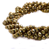 Glass Rondelle Beads C033 Gold