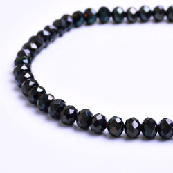 Glass Rondelle Beads C036 Black Nickel