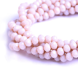Glass Rondelle Beads D156 Sand Light Brown
