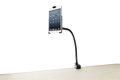 Gooseneck w/Super Clamp w/Adjustable iPad 9.7/10.5 Mounting Cradle