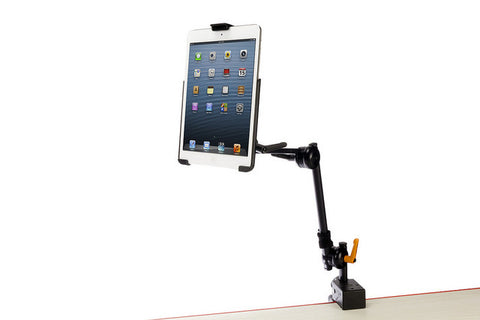 Latitude Arm w/Super Clamp w/Adjustable iPad 9.7/10.5 or 12.9 Mounting Cradle