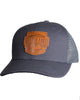 Born From Ice Canvas Trucker Hat - Charcoal