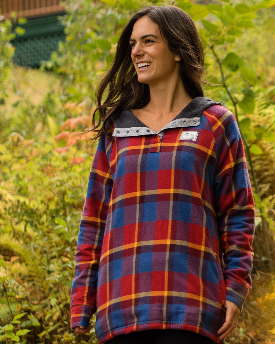 Women's Malo Fleece Lined Pullover Flannel - Summit Sun