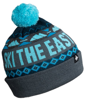 Powder Day Pom Beanie - Ice