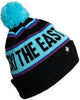 Youth Tailgater Pom Beanie- Neon Lights