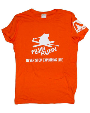 Women's Flyin Ryan Never Stop Tee - Orange